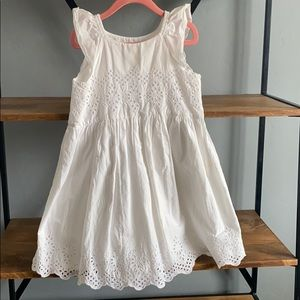 Toddler White Eyelet Dress